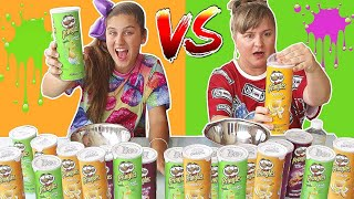 NÃO ESCOLHA A BATATA PRINGLES ERRADA DE SLIME - DON'T CHOOSE THE WRONG PRINGLES SLIME CHALLENGE