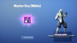 *NEW* FORTNITE - MASTER KEY (WHITE) Skin - FREE CHALLENGES