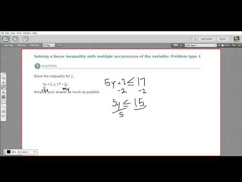 Solving a linear inequality of multiple occurrences of the variable - type 1