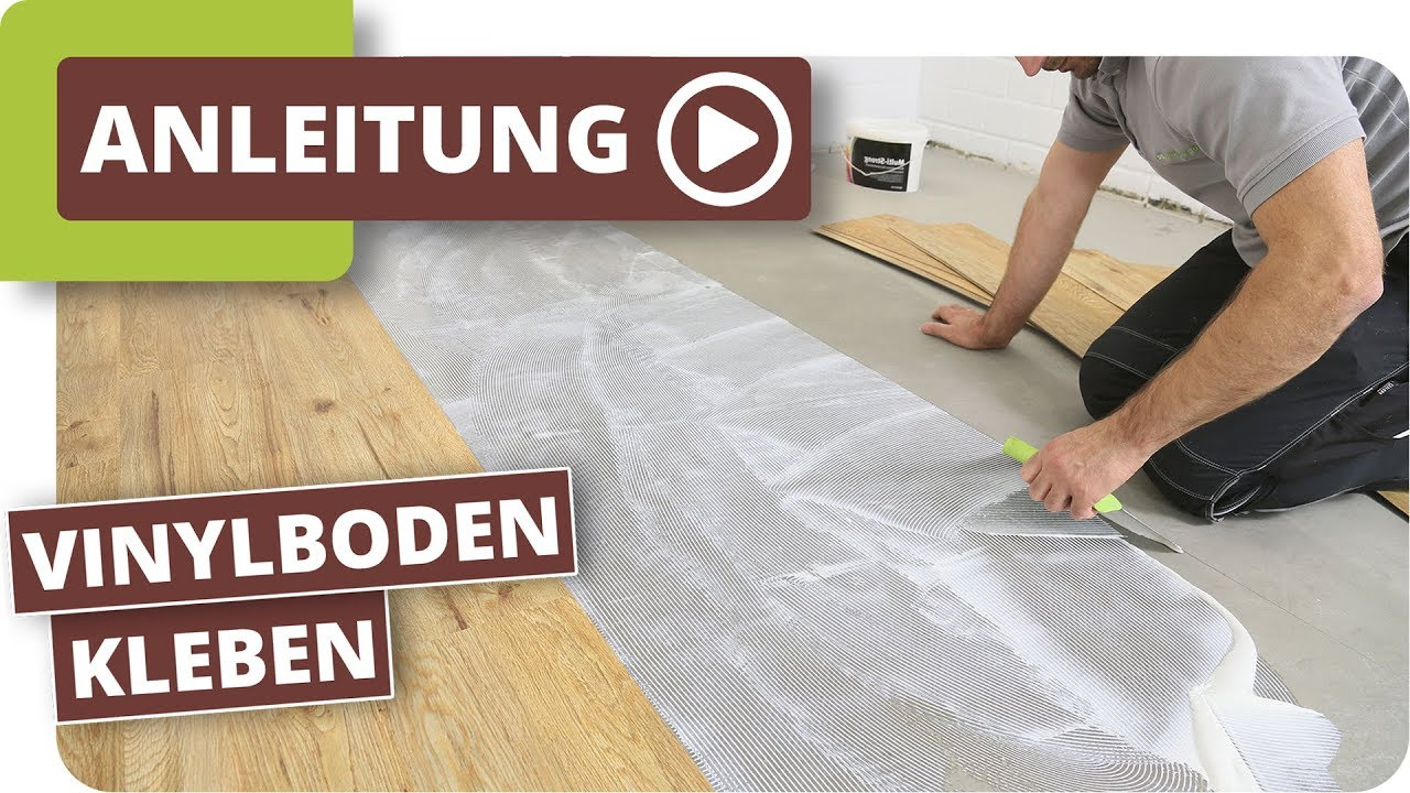 vinylboden kleben verlegeanleitung f r vinyl sheets youtube. Black Bedroom Furniture Sets. Home Design Ideas