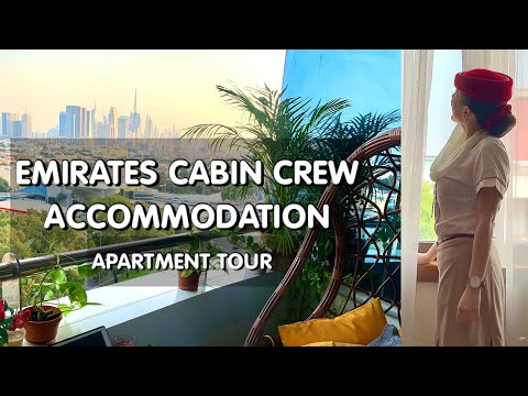 EMIRATES CABIN CREW ACCOMMODATION IN DUBAI - ROOM + APARTMENT TOUR WITH VIV | Flight Attendant Vlog