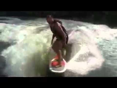 Virginia Tech Defensive Coach Bud Foster Surfing Claytor Lake