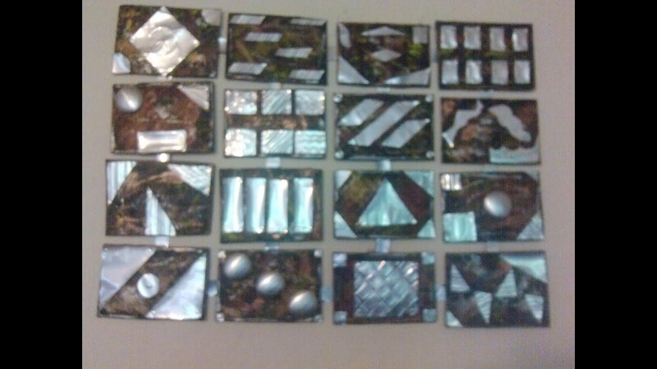 Diy cuadro reciclando latas de aluminio wall decoration - Manualidades con cuadros ...