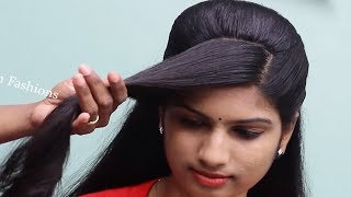 Easy Wedding guest hairstyle for girls || Beautiful hairstyles for long hair || hair style girl