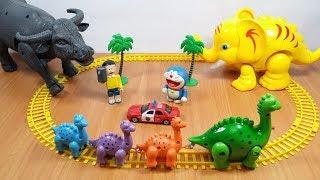 Đồ chơi Doremon - con trâu già bắt cóc khủng long con