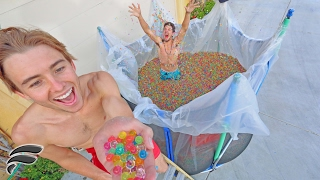 TRAMPOLINE FILLED WITH 5 MILLION ORBEEZ!