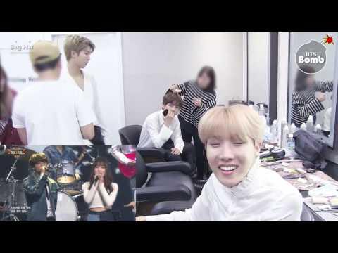 161229 BTS 방탄소년단 reaction to Jungkook x GFRIEND 여자친구 Yuju cut