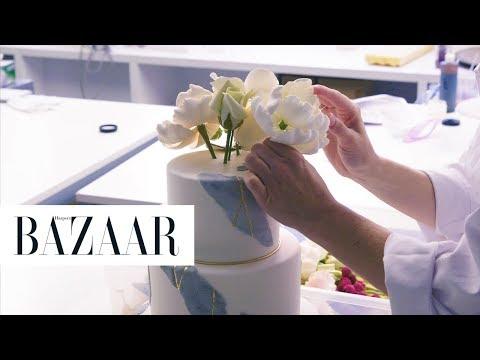 Watch How Ron Ben-Israel's Mesmerizing Wedding Cakes Are Made | Eat Chic | Harper's BAZAAR