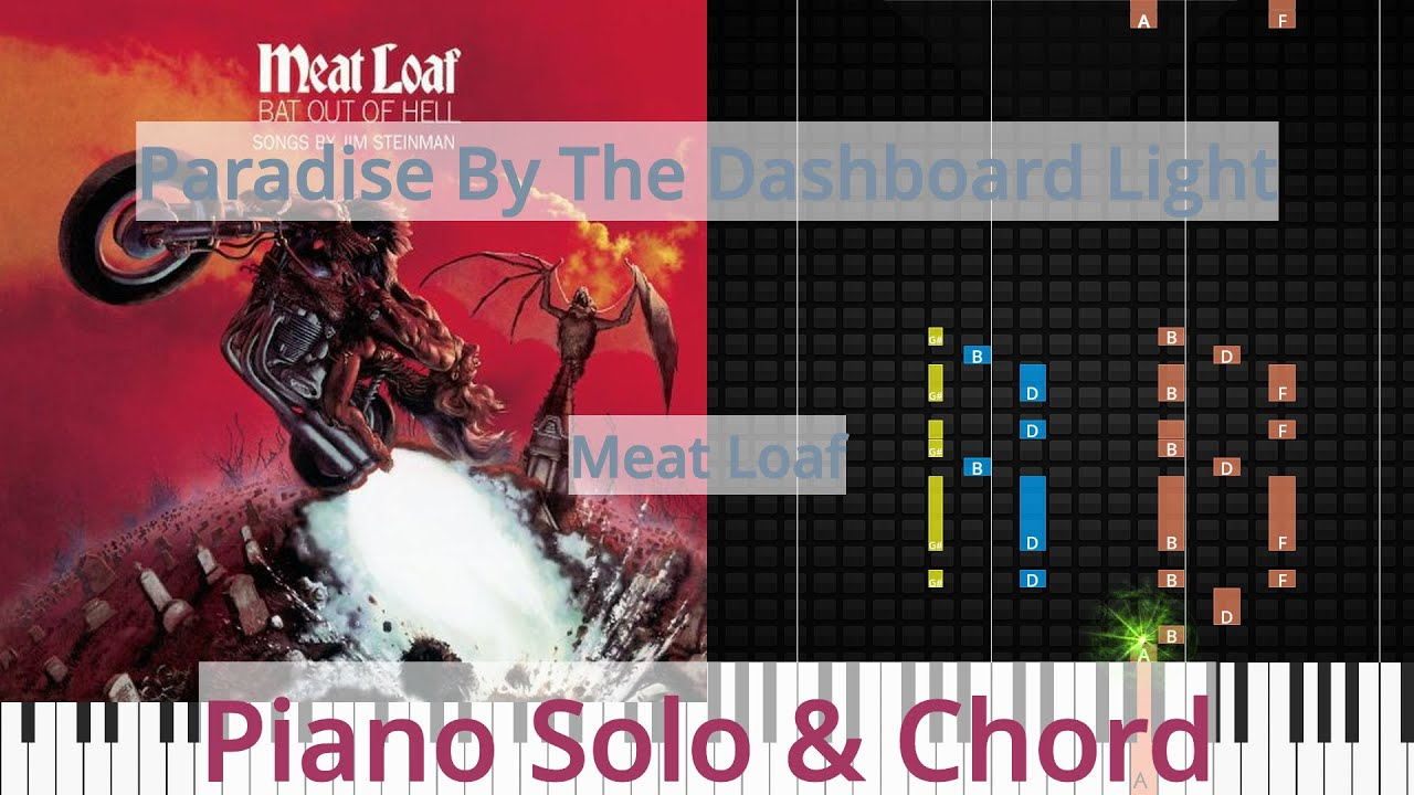 🎹Paradise By The Dashboard Light, Solo & Chord, Meat Loaf ...