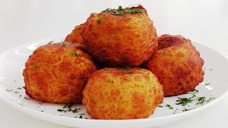 Картофельные шарики с сыром и помидорами. НЯЯЯЯЯМ.