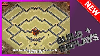 THE BEST TH10 WAR BASE!! ANTI-EVERYTHING! Build+Replays | The Sparrow | Clash Of Clans