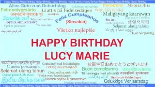 LucyMarie   Languages Idiomas - Happy Birthday