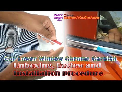 Car Chrome Strips Beading Trim Roll Unboxing And Installation 10 Meters 15mm Lower Window Garnish