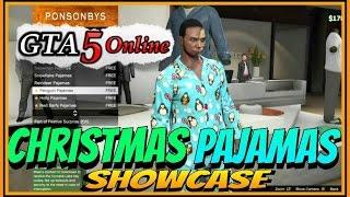GTA 5 Pajamas SHOWCASE (GTA 5 Festive Surprise 2015 Christmas DLC Gameplay)