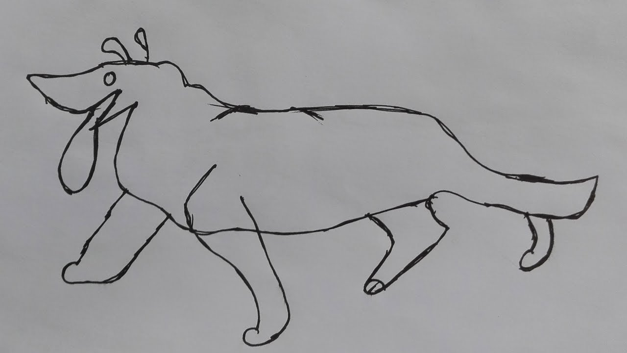 how to draw a cartoon dogdraw a cute dog step by step