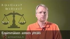 Ensimmäisen asteen yhtälö