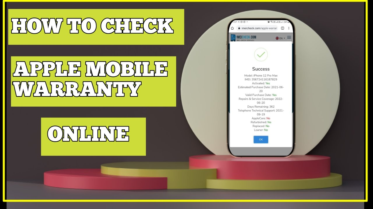 How to check Apple Mobile warranty & more details - YouTube
