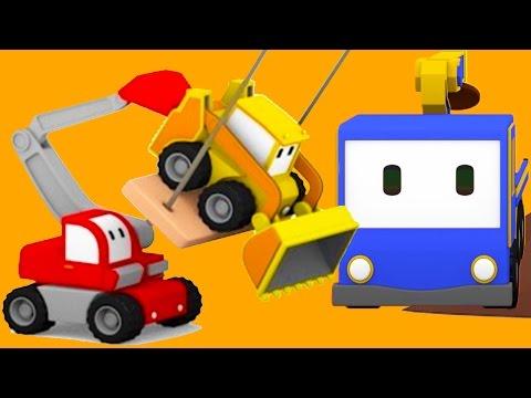 Домик на дереве - учимся вместе с малышами грузовичками: бульдозером, краном и экскаватором