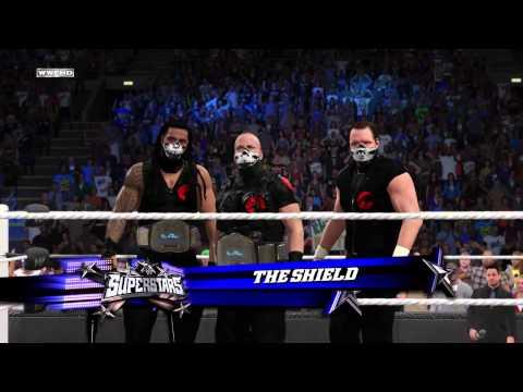 WWE 2K15 the shild vs graves team