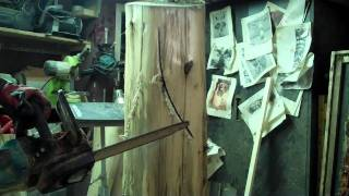 Chainsaw Carving A Woodspirit - Step 1 By: John Melo