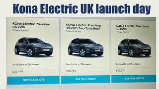 UK Kona Electric launch day. August 2nd 2018