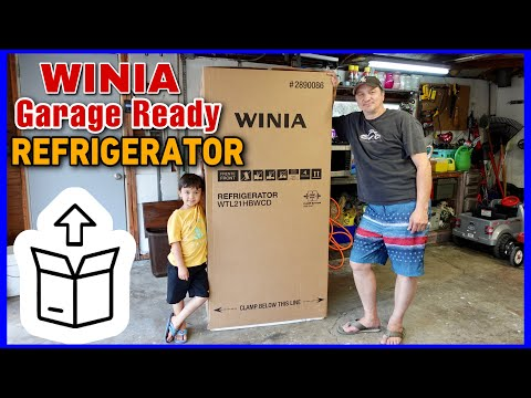 Download WINIA Garage Ready 20.84-cu ft TOP-FREEZER Refrigerator (White) | UNBOXING + Quick Review