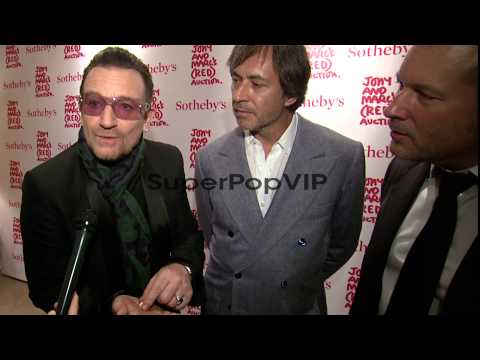 INTERVIEW -  Bono speaks about drug designs as Marc Newso...