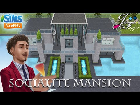 The Sims FreePlay 🍷🏛|  SOCIALITE MANSION. Designed by Joy thumbnail