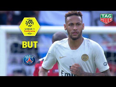 But NEYMAR JR (53' pen) / EA Guingamp - Paris Saint-Germain (1-3)  (EAG-PARIS)/ 2018-19