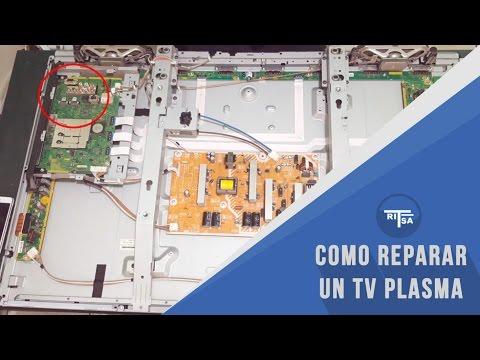 Reparación de televisión plasma - desarmado e identificación de elementos
