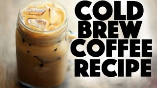 how to make homemade cold brew iced coffee without coffee machine. - breakfast cafe recipes