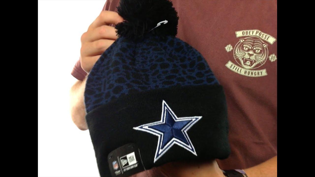 574d626512679 Cowboys  PEBBLE-POP  Black-Navy Knit Beanie Hat by New Era - YouTube
