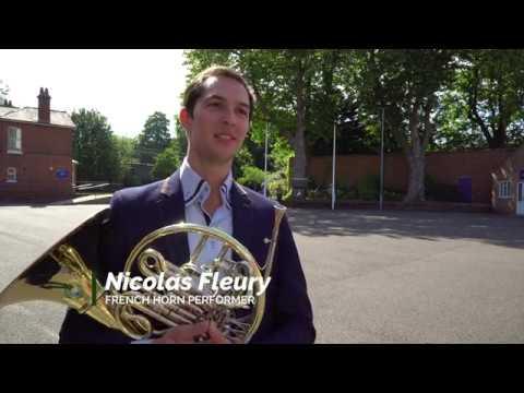 Nico Fleury masterclass at the Royal Marines School of Music