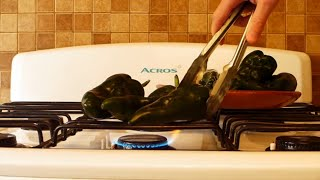 How to Roast and Clean Poblano Chiles
