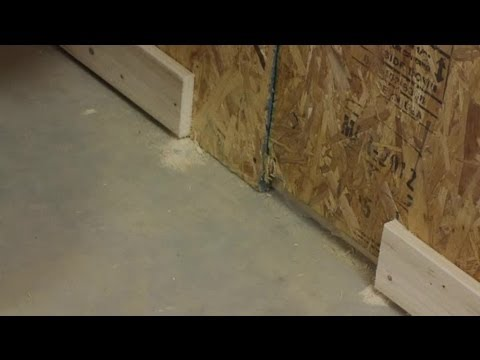 How To Trim A Wood Baseboard While Installed On The Wall