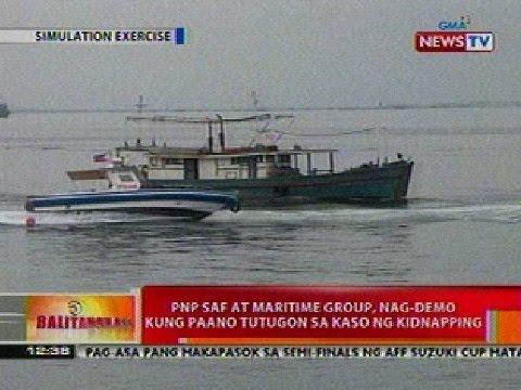 BT: PNP SAF at maritime group, nag-demo kung paano tutugon sa kaso ng kidnapping