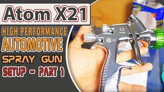 Setting up and cleaning the new ATOM X21 spray gun. Shop here: http...