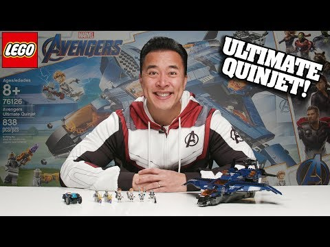 AVENGERS ULTIMATE QUINJET!!! LEGO Avengers Endgame Set 76126 Time-lapse Speed Build & Review