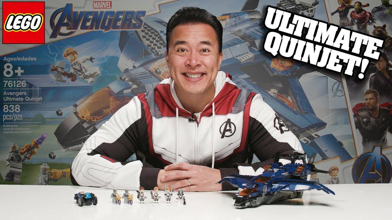 AVENGERS ULTIMATE QUINJET!!! LEGO Avengers Endgame Set 76126 Time-lapse Speed Build & Review
