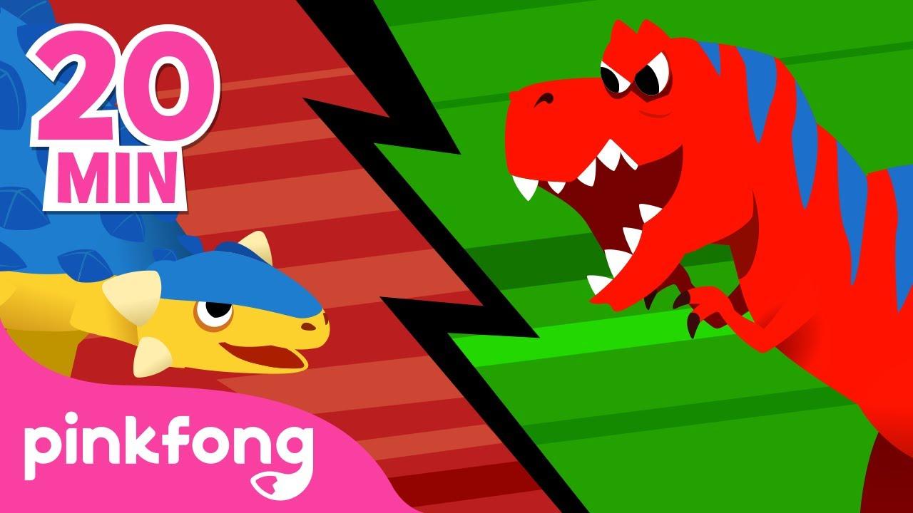 Anquilosaurio y muchas más | Canciones y Cuentos de Dinosaurios | +Recopilación | Pinkfong