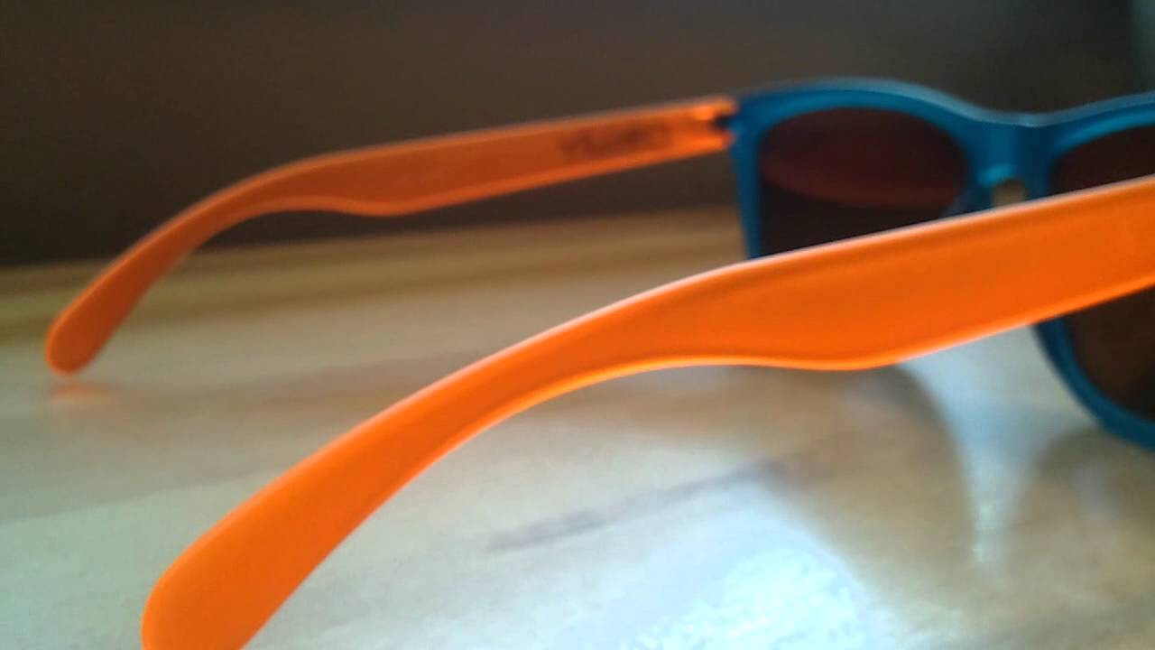 discount oakley frogskins vgl3  Oakley Frogskins Blacklight Blue and Orange with Fire Iridium