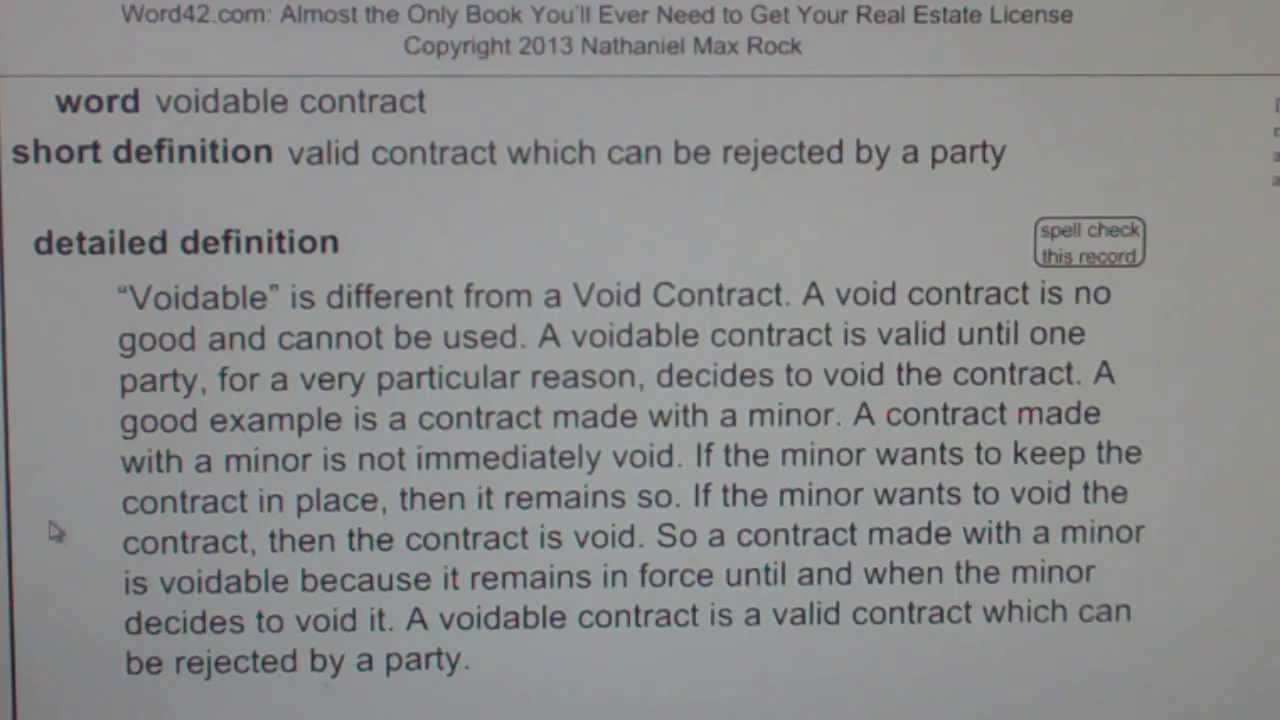 what makes contract invalid