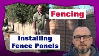 Installing Timber Fence Panels