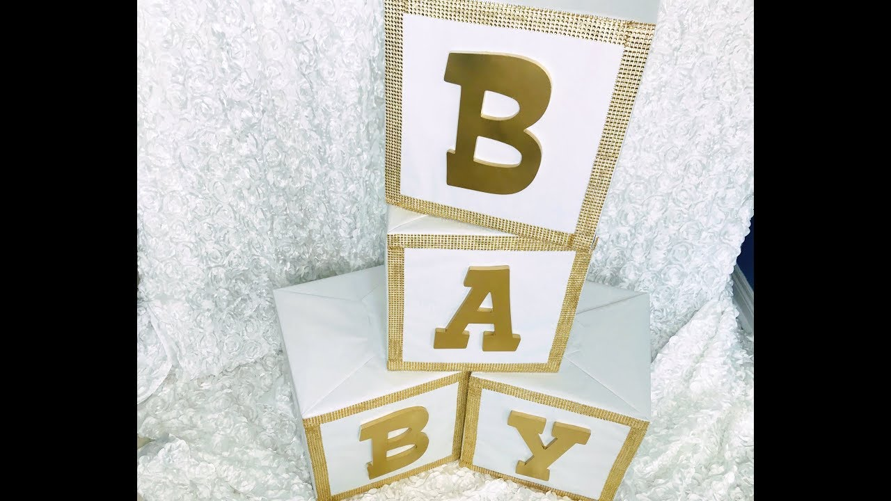 Diy Glam Baby Shower Block Letters Featuring Totally Dazzled Youtube