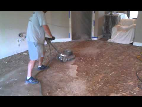 How To Remove A Glue Down Hardwood Floor.   YouTube