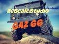 Rc scale studio model 4x4 1:10 Cross Rc GAZ 66 firs run