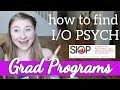 How To Find I O PSYCH Graduate Programs Industrial And Organizational Psychology Applications mp3