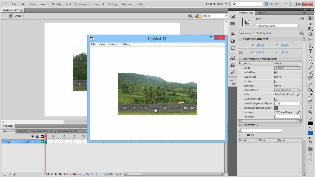 How to Add Video in Adobe Flash - YouTube