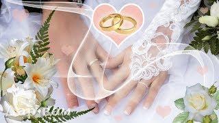 С днём свадьбы! Музыкальная видео открытка.