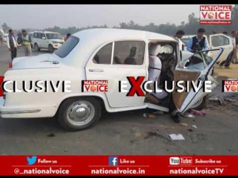 Agra, Lucknow Expressway incident, Principal Secretary Information Navneet Sehgal injured